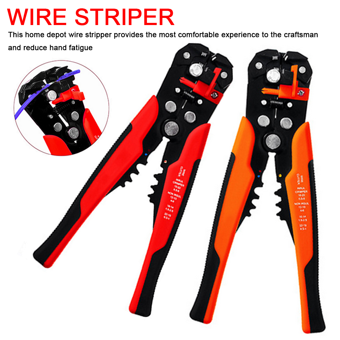 Crimper Cable Cutter Automatic Wire Stripper Multifunctional Stripping Tools Crimping Pliers Terminal 0.2-6.0mm2
