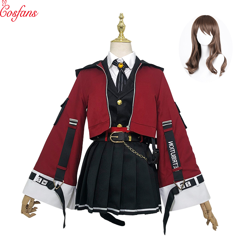 New Game Arknights! SkyFire TEXAS Cosplay Costume Women Cute Dress Halloween Carnival Uniforms Full Set And Wig Free Delivery