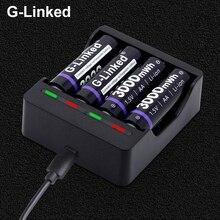 AA Battery Charger 1.5v aa charger for aa aaa 1.5v lithium battery charger with LED display battery charger aaa
