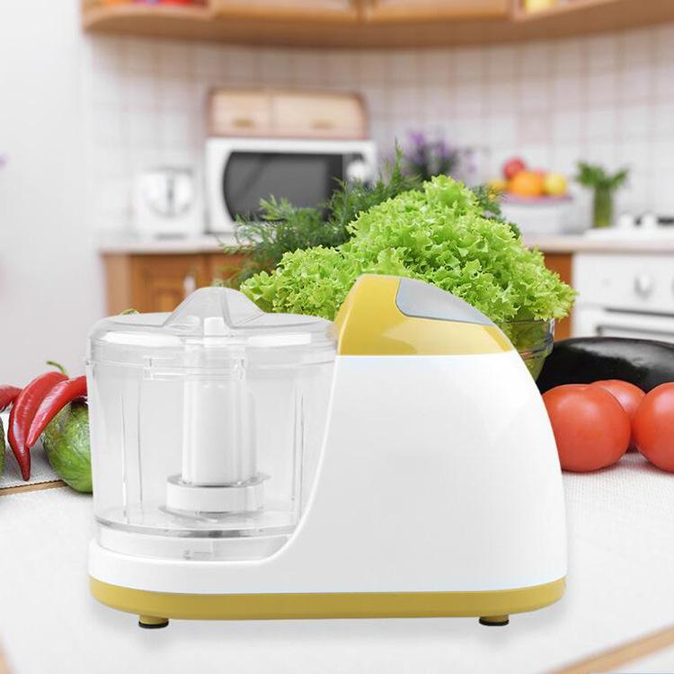 Kitchen Manual Food Processor Mixer Egg Blender Meat Grinder Vegetable Chopper Shredder Stainless Steel Blade Cutter(EU Plug)