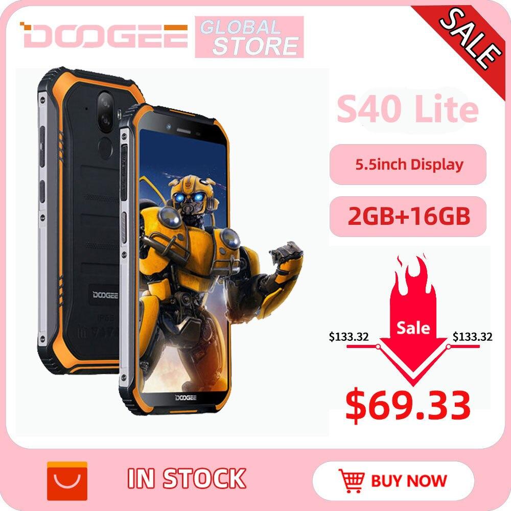 Фото. IP68 DOOGEE S40 Lite прочный мобильный телефон 5,5 дюймов дисплей 4650 мАч 8,0 МП отпечатков пальцев