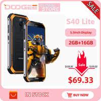 IP68 Doogee S40 Lite Telefono Cellulare Robusto Telefono Mobile Display da 5.5 Pollici 4650 Mah 8.0MP di Impronte Digitali Quad Core 2 Gb 16 gb di Android 9.0