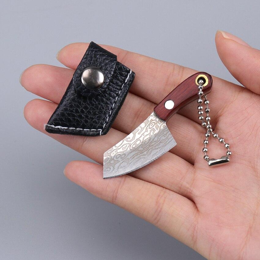 1pc portátil de aço inoxidável pequena faca cozinha acampamento mini descascador chaveiro bolso faca edc
