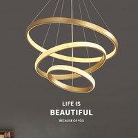 Candelabro redondo de círculo redondo para interiores, lámpara creativa Circular de geometría dorada, accesorios de iluminación