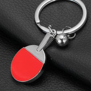 Sport stół do tenisa stołowego piłka tenisowa Badminton Bowling brelok-piłeczka rakieta brelok dla kobiet mężczyzn modny samochód akcesoria prezent