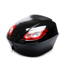 E-Bike Tail  Box Electric Scooter Trunk Motorcycle Top Hard Case Helmet Storage Case Luggage Case With Reflective Lamp customized motorcycle trunk motorbike storage box mould motorcycle tail box top case mold making
