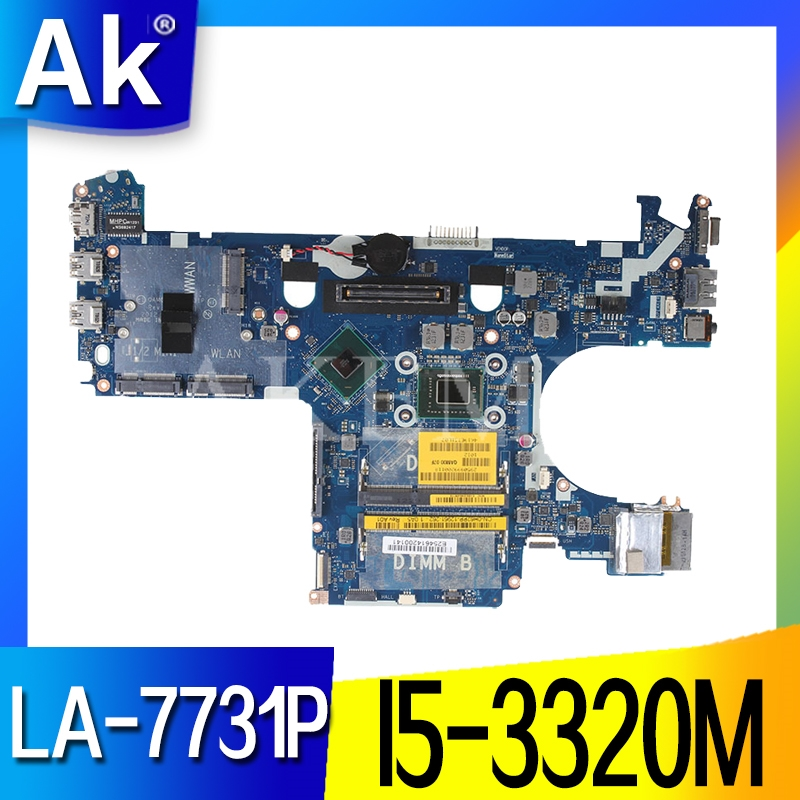 Akemy For DELL latitude E6230 6230 Laptop Motherboard <font><b>I5</b></font>-<font><b>3320M</b></font> LA-7731P CN-05CDR9 CN-039GJ4 CN-0PR83X 0PR83X image