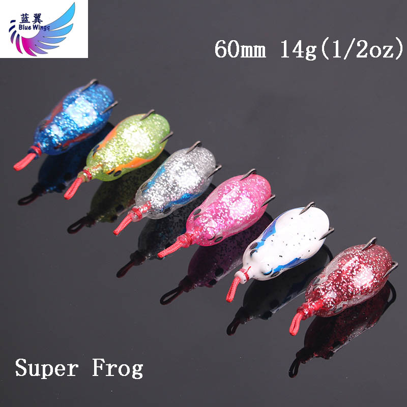 1pcs/lot Soft Frog Fishing Lures Double Hooks 14g 1/2oz <font><b>60mm</b></font> Top water Ray Frog Artificial <font><b>Minnow</b></font> Crank Soft Bait fishing tackle image