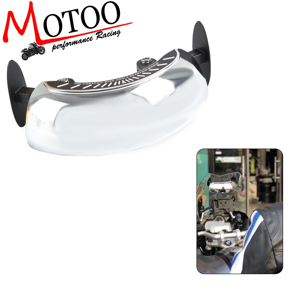 Motorcycle Holographic Wide-angle Universal Rear Mirror Wide Mirror View On Windscreen For BMW TMAX R1200GS R1250GS All Year