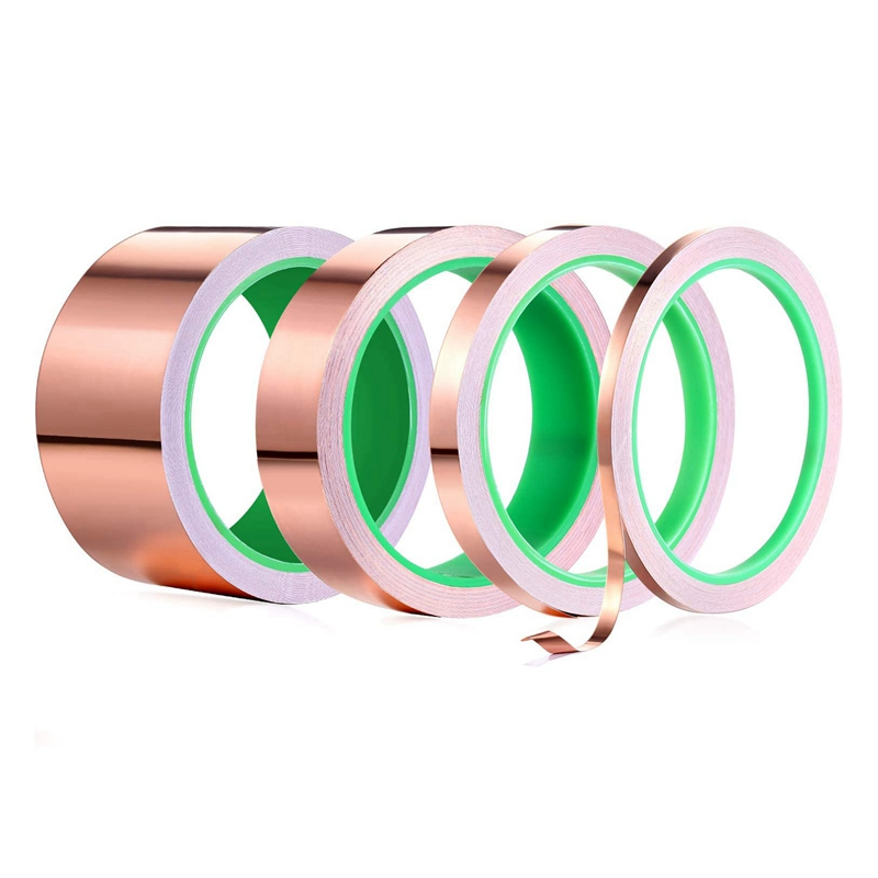 Double Sided Copper Foil Tape for EMI Shielding Conductive Adhesive for Electrical Repairs,Snail Barrier Tape Guitar