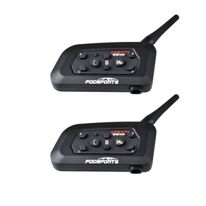 Image 2 - 2 adet V6 Pro BT interkom kablosuz Bluetooth kulaklık interkom takım elbise futbol hakem hakem bisiklet konferans Stereo müzik