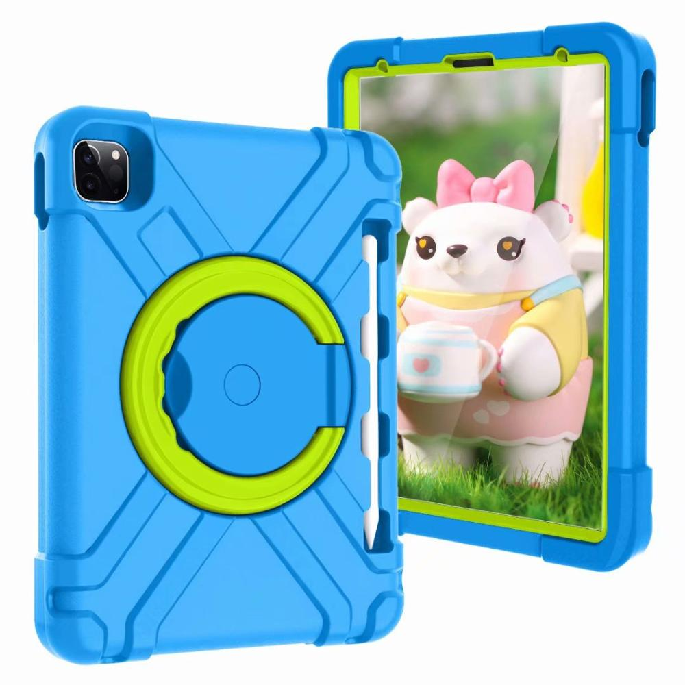 Blue-Green Blue High Duty for iPad Pro 11 2018 2020 Case Kids A1980 A2230 Shockproof EVA 360 Pencil