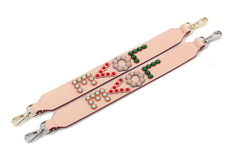 couro feminino alças para saco cinta folha