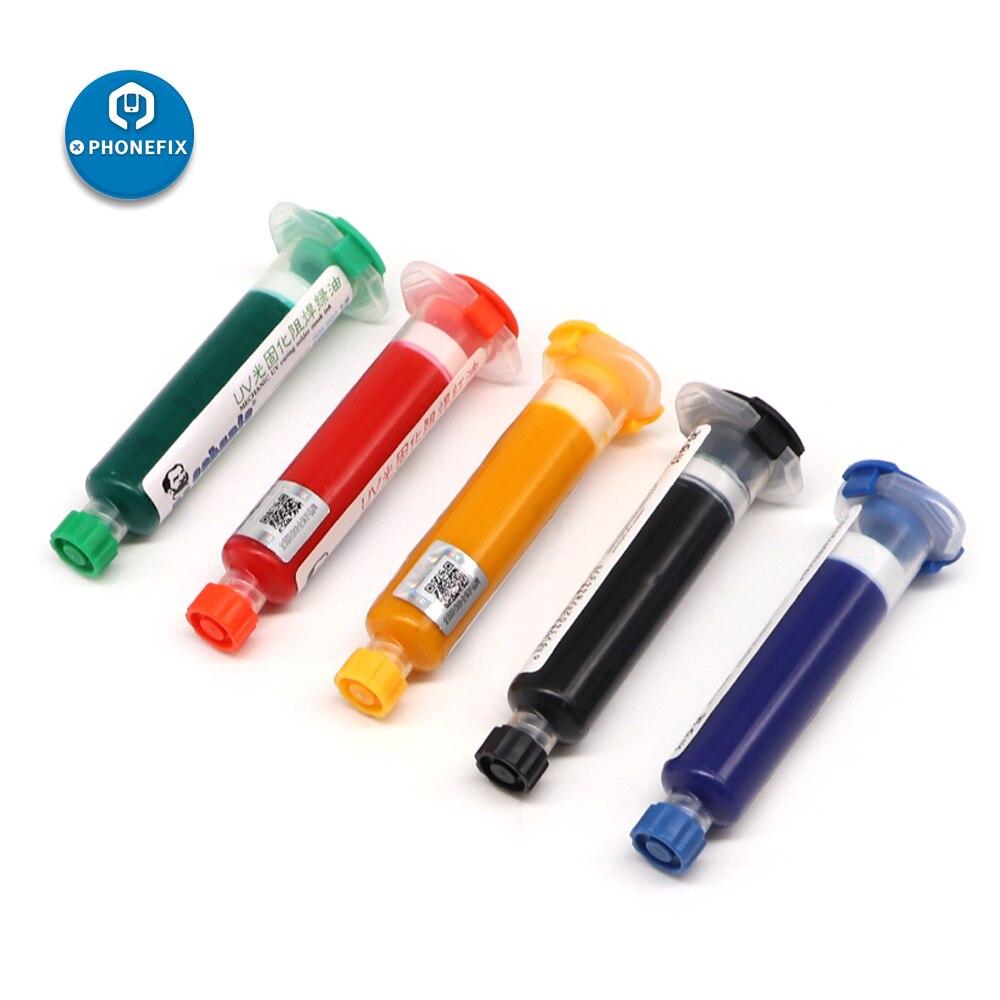 MECHANIC Solder Mask 10ML Green UV BGA PCB Paint Prevent Corrosive Arcing SolderPaste Flux PCB UV Photosensitive Inks