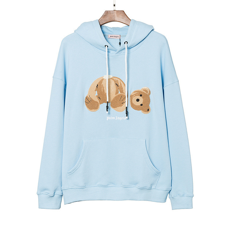 2019 Early Spring Europe And America Popular Brand Cartoon Animation Embroidered Decapitation Bear Hoodie Teenager Couple Clothe