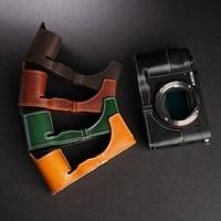 Handmade Genuine Leather Camera case Video Half Bag Camera Bodysuit For sony Alpha a7c αa7C