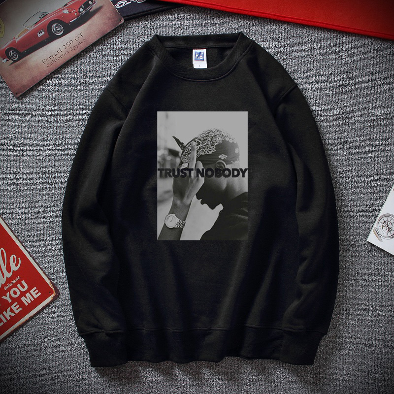 New Winter Moletom Tupac 2 Pac Shakur Trust Nobody Funny Men Women Unisex Hoodie Sweatshirt Top Cotton Fleece Sudadera Hombre