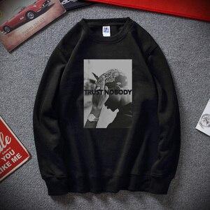 Image 1 - Sudadera Moletom Tupac 2 Pac Shakur Trust Nobody Unisex, divertida, de algodón, Polar, novedad de invierno