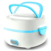 Calentador de alimentos vaporizador de calor nuevo multifuncional eléctrico lonchera Mini olla de arroz portátil conservación comida caja enchufe de la UE|Tarteras| |  -