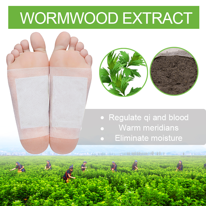 Sumifun 2Pcs Wormwood Detox Foot Patch Essential Oil 100% Original Chinese Natural Herbal Medical Plaster C1643