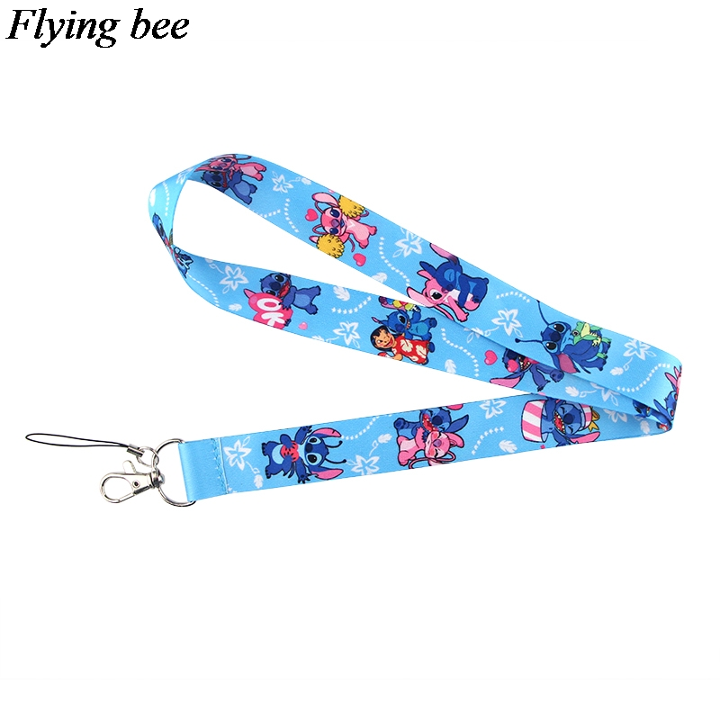 Flyingbee Cartoon Lanyard Phone Rope Keychains Phone Lanyard For Keys ID Card Cartoon Lanyards For Men Women X0795