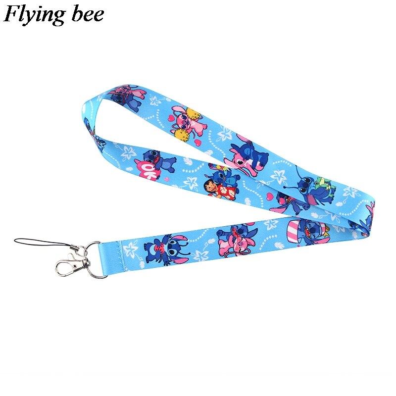 Flyingbee Cartoon Lanyard Phone Rope Keychains Phone Lanyard For Keys ID Card Cartoon Lanyards For Men Women X0795