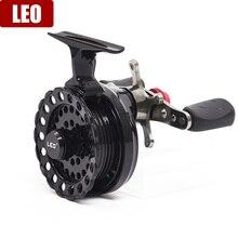 LEO DWS60 4 + 1BB 2.6: 1 65MM sinek balıkçılık makarası tekerlek ile yüksek ayak balıkçılık makaraları balıkçılık Reel tekerlekler
