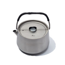 Hiking Cooking Titanium Teapot Picnic 1L Coffee Tea Pot Ultralight Tea ceremony Stove Outdoor Camping Kettle