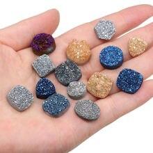 Натуральный камень кристалл Кластерные Подвески неправильной