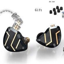 Cca c10 pro 4ba + 1dd híbrido no ouvido fone de ouvido alta fidelidade dj monitor música esporte fone de ouvido unidade 5 unidade ca4 c12 ca16 zsn pro zsx v90