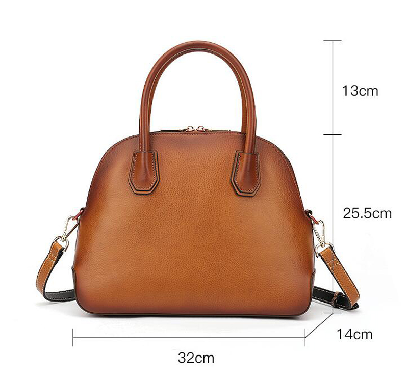 Women's Classic Leather Shell Bags Hot Sales Mini Cowhide Shoulder Handbag Fashion Lady Tote Purse Women Fashion Shoulder Bag