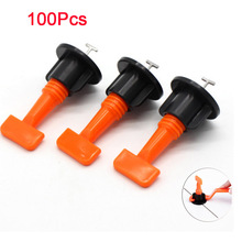 100Pcs Reusable Anti-Lippage Tile Leveling System Locator Tool for Ceramic Floor Wall leveling system
