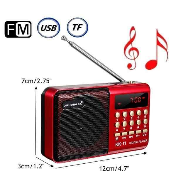 TWISTER.CK K11 FM Rechargeable Mini Portabel Radio Genggam Digital FM USB TF MP3 Player Speaker
