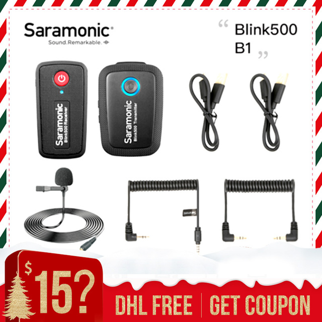 Saramonic Blink 500 Dual ไมโครโฟนไร้สายB1 B2 B5 B6 2.4GHสำหรับCanon Nikon Sony Blink500