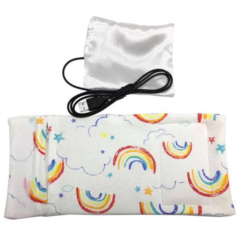 Usb подогреватель молока воды дорожная коляска изолированная сумка детская бутылочка для кормления подогреватель - Цвет: Rainbow pattern