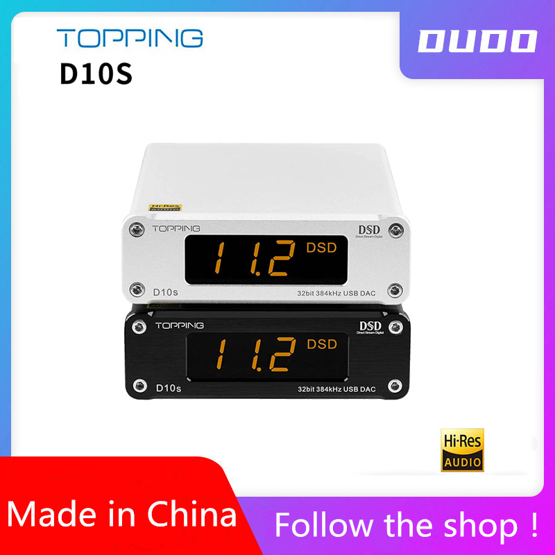 TOPPING D10S MINI USB DAC AMP CSS XMOS XU208 ES9038Q2M DSD256 PCM 384kHz Audio Amplifier Decoder D10 S