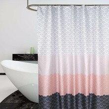 Nordic Block Geometric Color Shower Curtain Thick Waterproof Bath Curtains Bathroom Polyester Fabric Bathtub Accessories