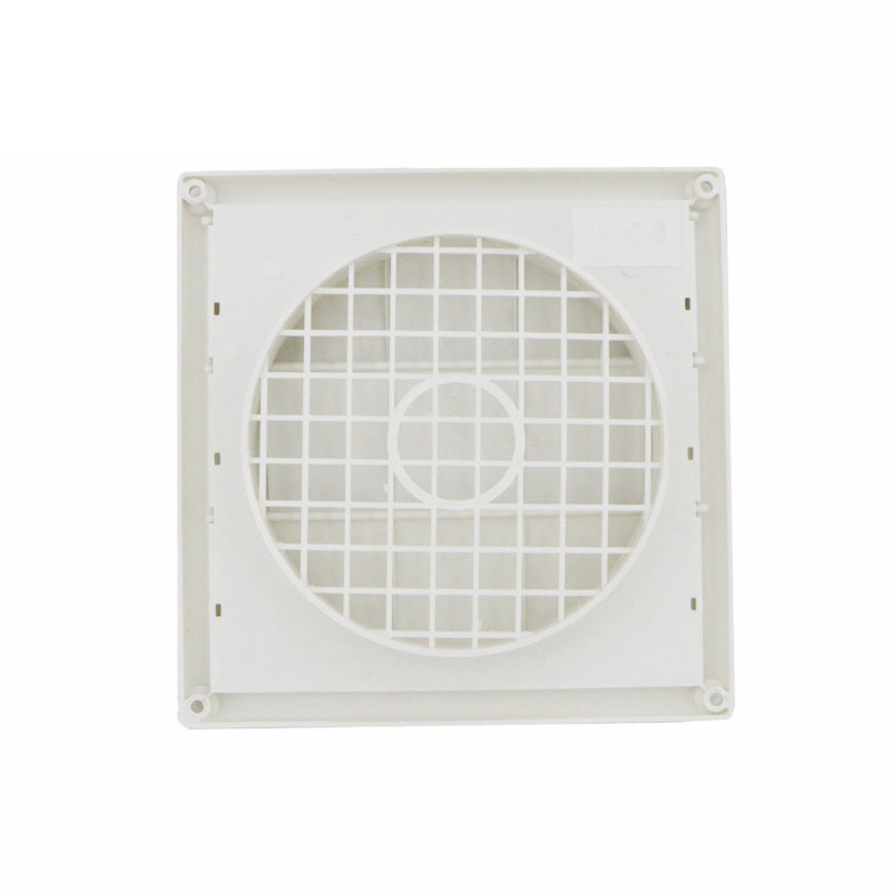 Outdoor Dryer Air Vent Cover Cap Louvered Cover White Exterior Wall Vent Hood Outlet Airflow Vents PI669