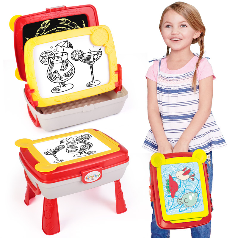 Yi Er Yi Yier CHILDREN'S Drawing Board Ball Pen Wipable Write Multi-functional Folding Doodle Board Kids CHILDREN'S Backpack Toy