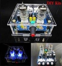 6J1 tube preamp amplifier board Pre amp Headphone amp 6J1 valve preamp bile buffer diy kits + shell