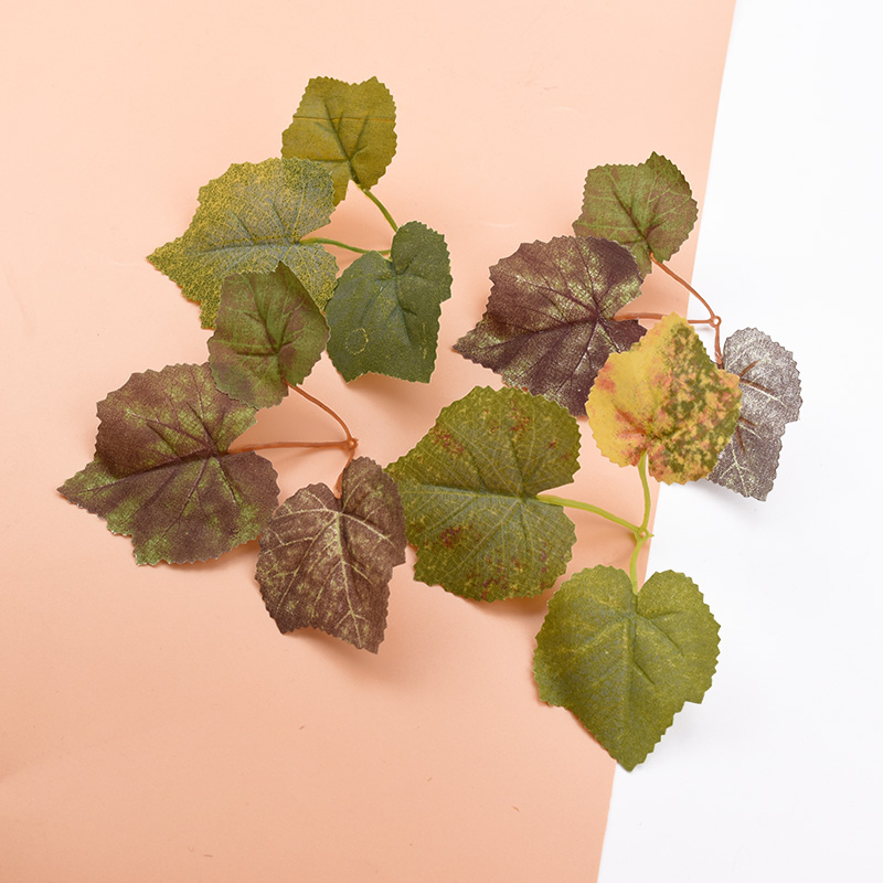 10pcs Maple Leaf Artificial Plants Wedding Decorative Flowers Wreaths Diy Gifts Box Christmas Decorations For Home Silk Leaves