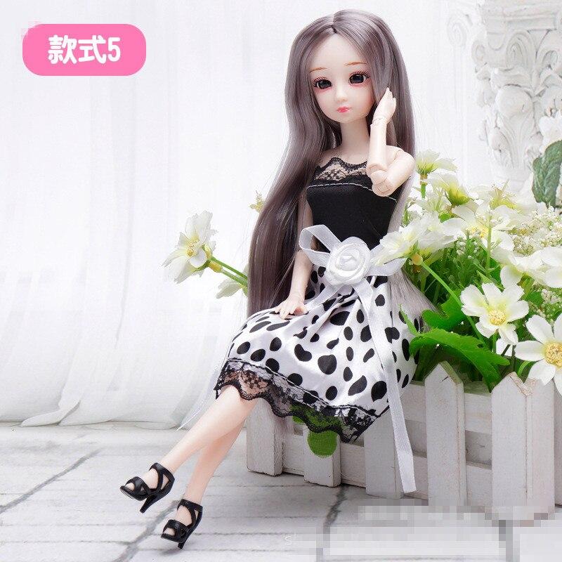 Muñeca articulada BJD, 30cm, 20 ojos en 3D, muñeca picardías de moda Bjd, se puede vestir, chica desnuda, juguete, regalo de Navidad