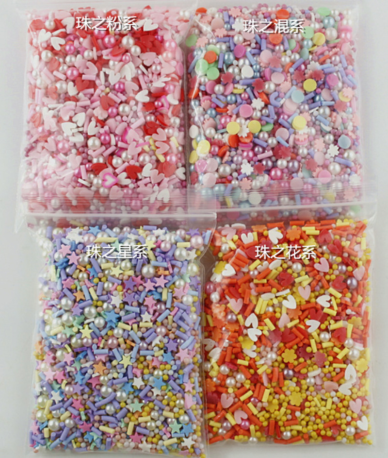 100g Mixed Polymer Hot Clay Sprinkles Colorful Candy For DIY Crafts Tiny Cute Plastic Klei Accessories Scrapbook Hair Bow Center