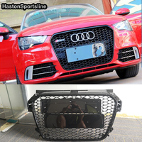 A1 RS1 S1 Honeycomb Mesh Front Grill Grille For Audi A1 2013 2015 Car Styling