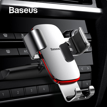 Baseus Gravity Car Phone Holder for Car CD Slot Air Vent Mount Phone Holder Stand for iPhone X Samsung Metal Mobile Phone Holder 1