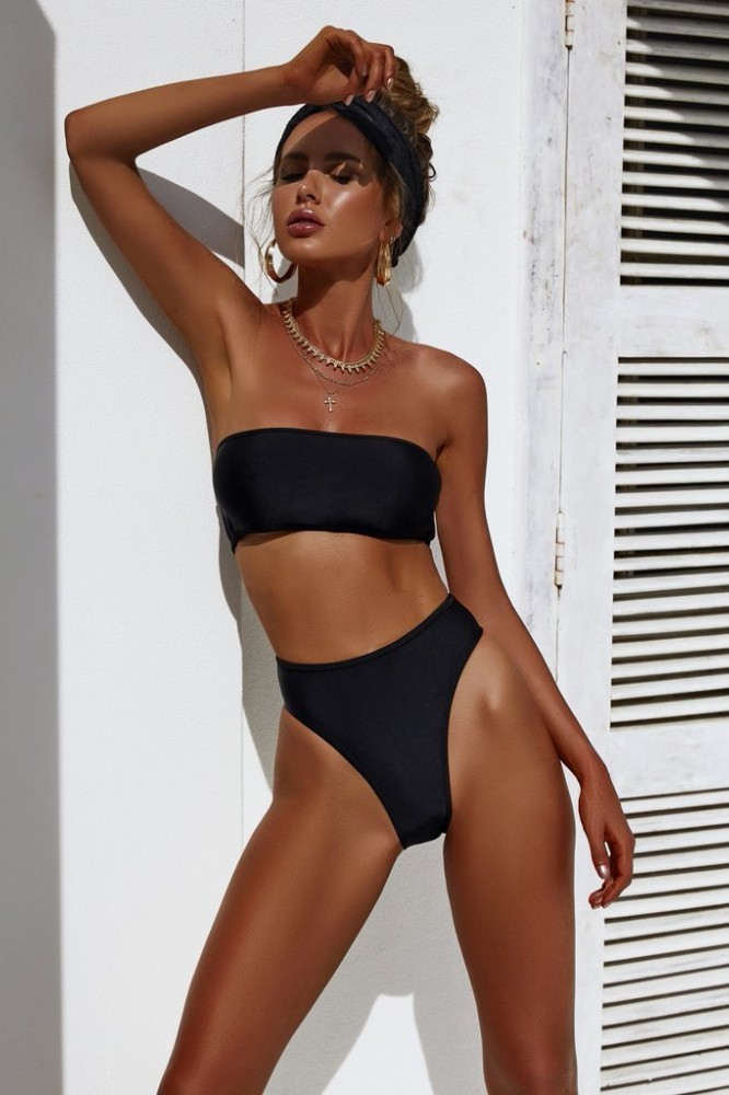 VINIKNIKA 2019 New High Waist Bikinis  Bikini Set Women Sexy Summer Beach Brazilian Swimsuit Solid Sling High Quality Swimwear