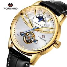 Forsining Mechanical Watch Men Automatic Tourbillon Moon Pha