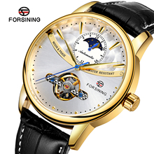 Forsining Mechanical Watch Men Automatic Tourbillon Moon Pha