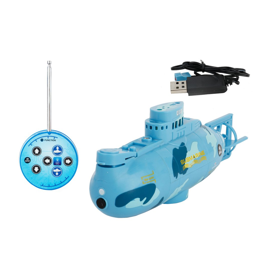Mini Submarine RC Speedboat Model High Powered RC Submarine For Kids