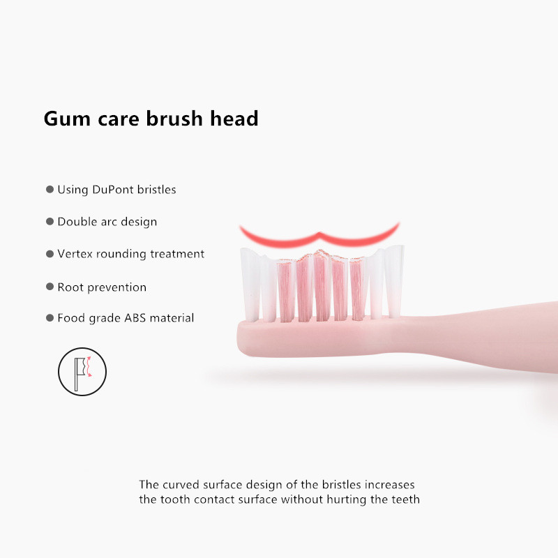 Electric Toothbrush Sonic Wave Rechargeable Top Quality Toothbrush Head Replaceable Whitening Tooth brush10 Brush Head